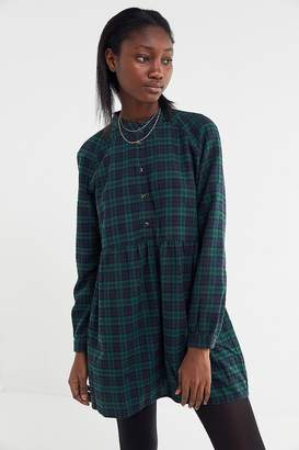 Urban Outfitters Plaid Flannel Mini Shirt Dress
