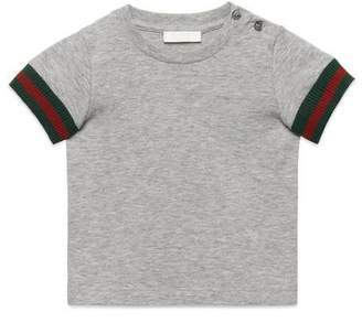 Gucci Baby cotton T-shirt with Web