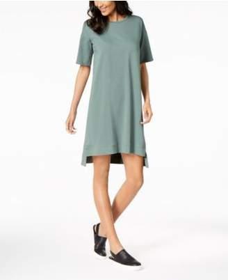 Eileen Fisher Organic Cotton Step-Hem Shift Dress, Regular & Petite
