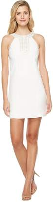 Jessica Simpson Textured Dress with Neck Embellishment Women's Dress