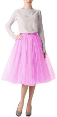 f30cf50f4bc Belle House Women s A Line Short Knee Length Tutu Tulle Prom Party Skirt  2018 Petticoat Skirts