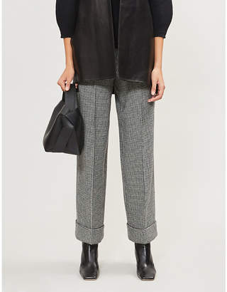 Max Mara S Teheran wide straight wool-blend trousers