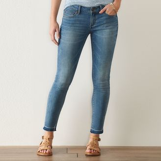 Women's SONOMA Goods for LifeTM Release Hem Skinny Jeans $42 thestylecure.com