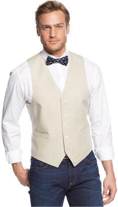 Lauren Ralph Lauren Tan Linen Vest $95 thestylecure.com