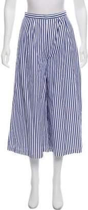 M.D.S. Stripes High-Rise Wide-Leg Pants