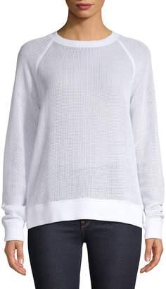 Eileen Fisher Melange Cotton Pullover
