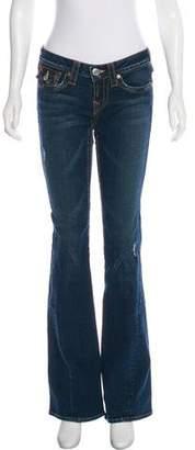 True Religion Low-Rise Wide-Leg Jeans