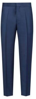 HUGO Boss Extra-slim-fit pants in a birdseye wool 30R Dark Blue