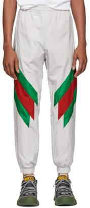 Gucci Off-White Intarsia Web Lounge Pants