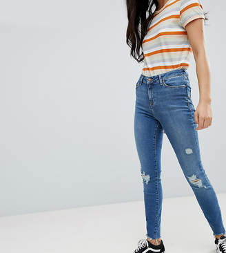 New Look Ripped Skinny Frayed Lift and Shape Jean
