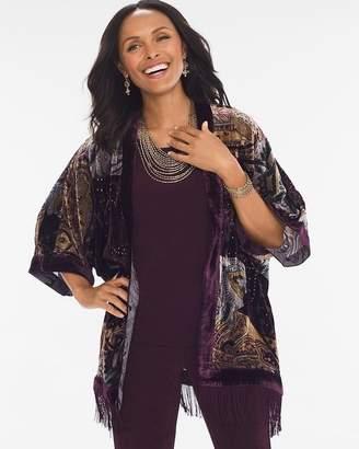 Travelers Collection Velvet Burnout Kimono