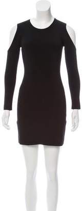 Elizabeth and James Rib Knit Cold-Shoulder Dress