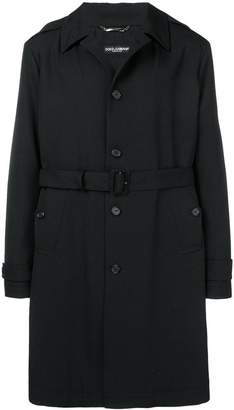 Dolce & Gabbana single-breasted trench coat