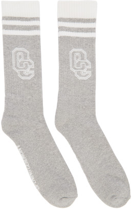 Opening Ceremony Grey Logo Socks $20 thestylecure.com