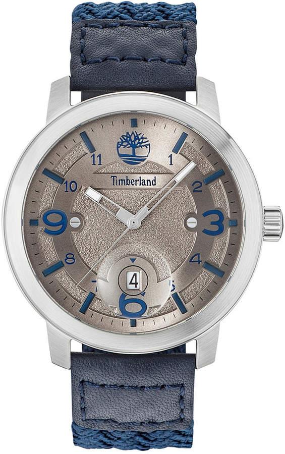 TimberlandTimberland Men's Pembroke Blue Nylon Strap Watch 46mm TBL15017JS61