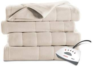 Sunbeam Heated Fleece Electric Blanket, Size, 10 Hour Shut Off with a 6 Foot Cord, Off White by