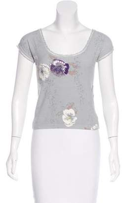 Blumarine Knit Embellished Top
