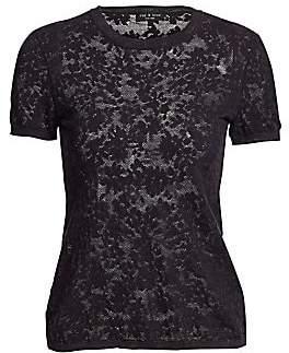 Rag & Bone Rag& Bone Rag& Bone Women's Perry Floral Jacquard Short-Sleeve Tee