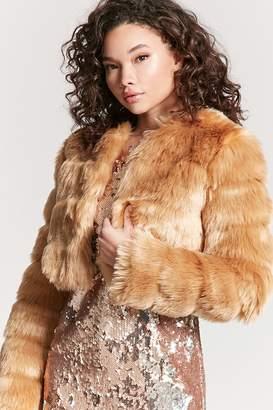 Forever 21 Faux Fur Crop Jacket