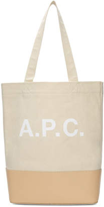 A.P.C. Beige Axel Tote