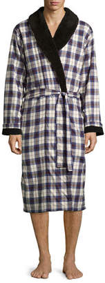 UGG Kalib Plaid Twill Fleece-Lined Robe