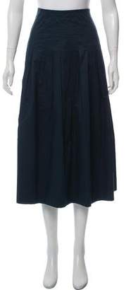 The Row Pleated Midi Skirt