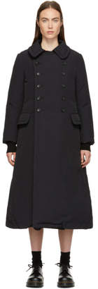 Comme des Garcons Black Down Double-Breasted Coat