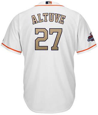 Majestic Men's Jose Altuve Houston Astros Gold Replica Cool Base Jersey