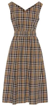 Max Mara S Zurca checked twill dress