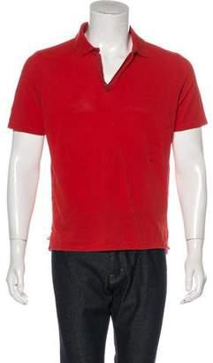 Balenciaga Open-Neck Polo Shirt