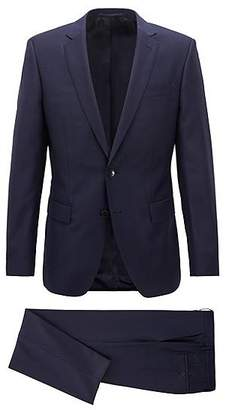 HUGO BOSS Slim-fit suit in virgin wool with AMF stitching