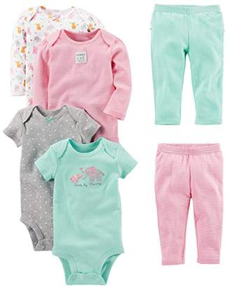 b93cd4753f0f8 Carter s Simple Joys by Baby Girls  6-Piece Little Character Set