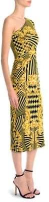 Versace One-Sleeve Jersey Dress