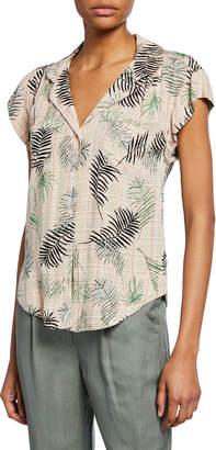 Velvet Heart Jenna Leaf-Print Button-Down Shirt