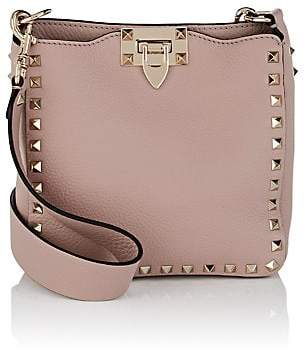 Valentino Women's Rockstud Mini Leather Hobo Bag