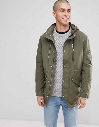 ONLY & SONS Light Weight Parka With Multi Pockets