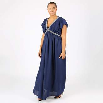 at La Redoute · LOVEDROBE Pleated Maxi Dress with Jeweled Detail 214944e79