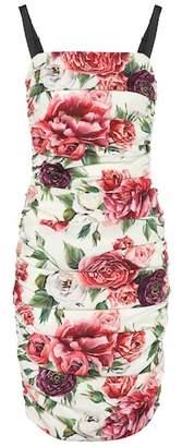 Dolce & Gabbana Floral stretch-silk dress