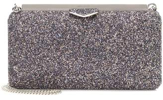 Jimmy Choo Ellipse glitter clutch