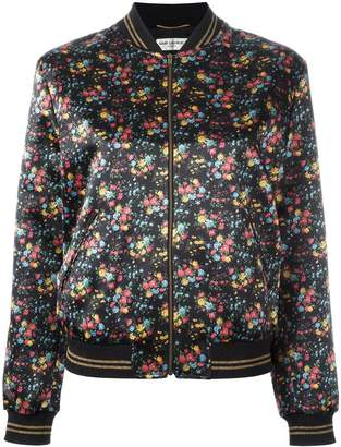 Saint Laurent wild flower print Teddy jacket