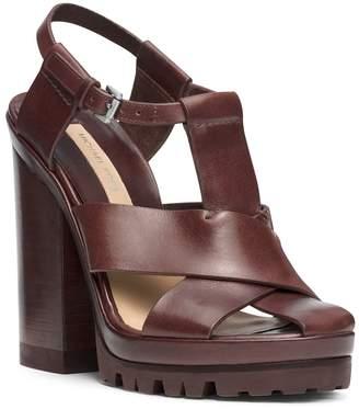 Michael Kors Pax Runway Vachetta Leather Sandal