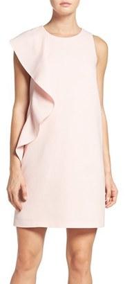 Women's Chelsea28 Asymmetrical Ruffle Shift Dress $149 thestylecure.com