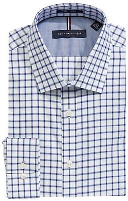 Tommy Hilfiger Slim-Fit Checkered Cotton Dress Shirt