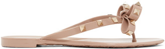 Valentino Pink Rockstud Beach Sandals $295 thestylecure.com