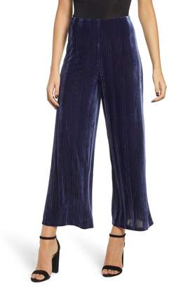 Leith Velour Wide Leg Crop Pants