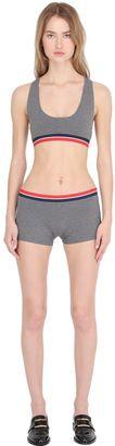 Tommy X Gigi Cotton Jersey Crop Top $30 thestylecure.com