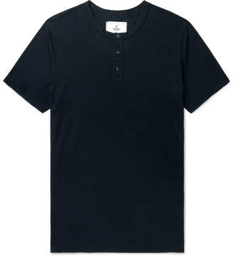 Reigning Champ Slim-Fit Cotton-Jersey Henley T-Shirt - Men - Black