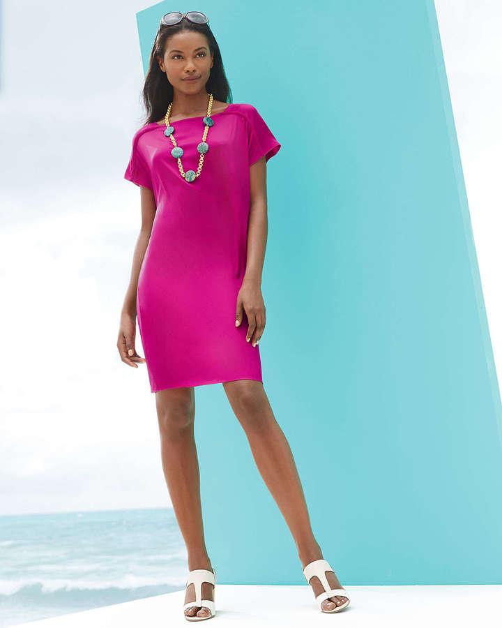 Elie Tahari Olivia Silky Shift Dress