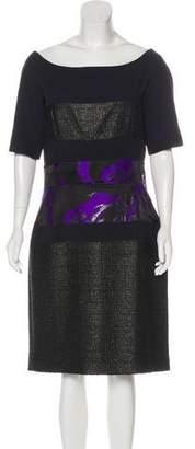 J. Mendel Patterned Off-the-Shoulder Dress