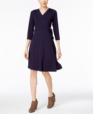 Eileen Fisher Jersey Knit Wrap Dress, a Macy's Exclusive Style $218 thestylecure.com